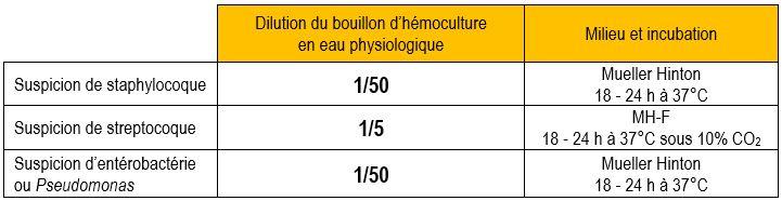 antibiogramme hémoculture
